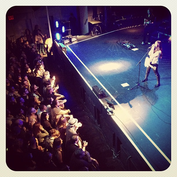 Alanis Morissette performing at Terminal 5 in New York City in 2012.
