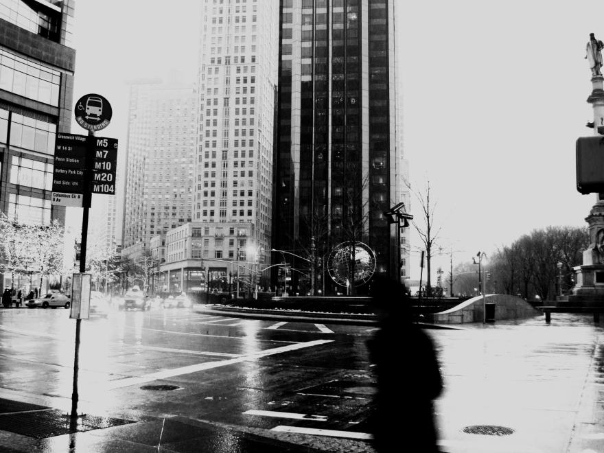 Columbus Circle, New York City | Jan. 17, 2010 | Photo by Karen Petree