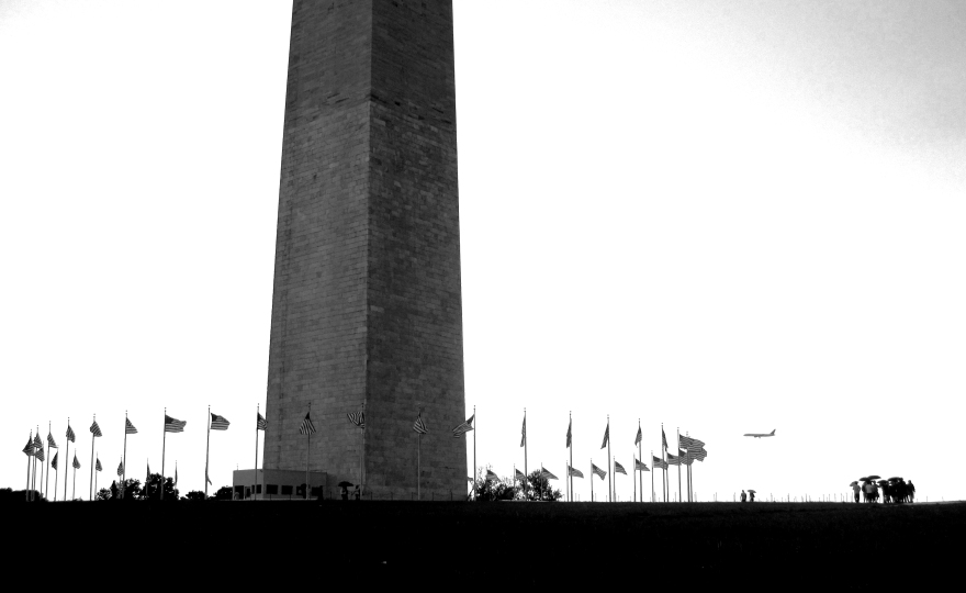 The Washington Monument in the rain | May 16, 2009 | Photo by Karen Petree